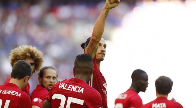 Gol Zlata Ibahimovic menbawa Manchester United Juara